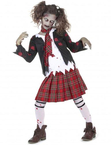 Zombie scholieren kostuum voor meisjes