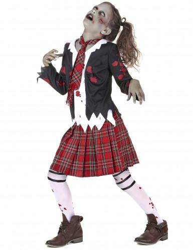 Zombie scholieren kostuum voor meisjes-1