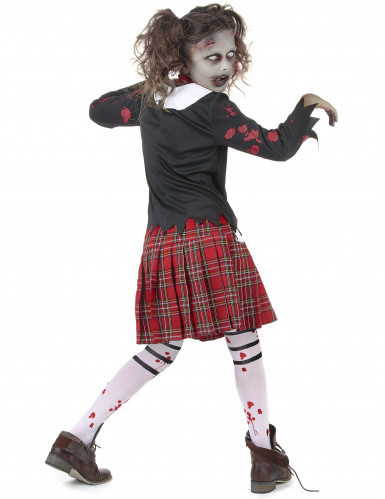 Zombie scholieren kostuum voor meisjes-2