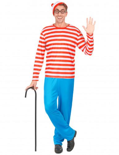 Gestreepte wandelaar kostuum voor volwassenen