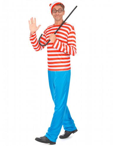Gestreepte wandelaar kostuum voor volwassenen-1