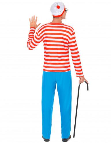 Gestreepte wandelaar kostuum voor volwassenen-2
