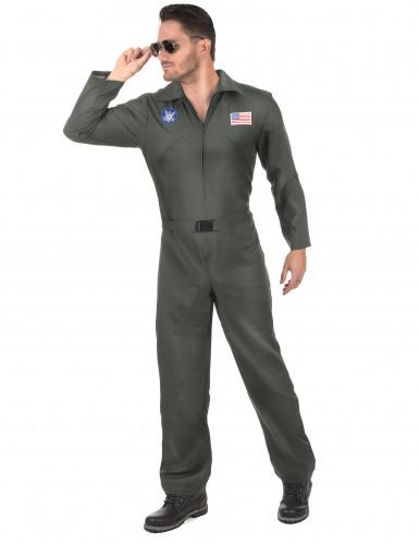 Vliegpiloot kostuum voor volwassenen-1