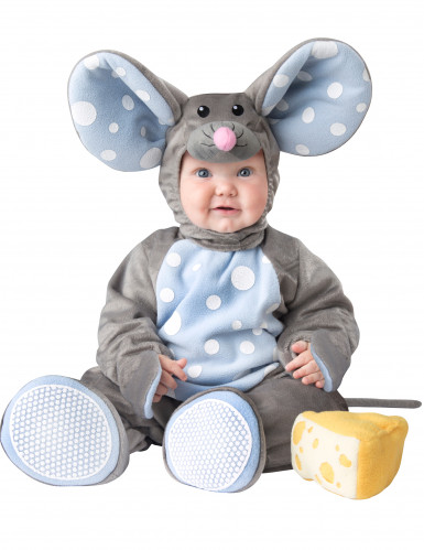 Grijs muizenkostuum voor baby's - Luxe