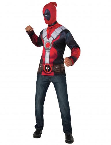 Deadpool™ t-shirt met masker voor volwassenen
