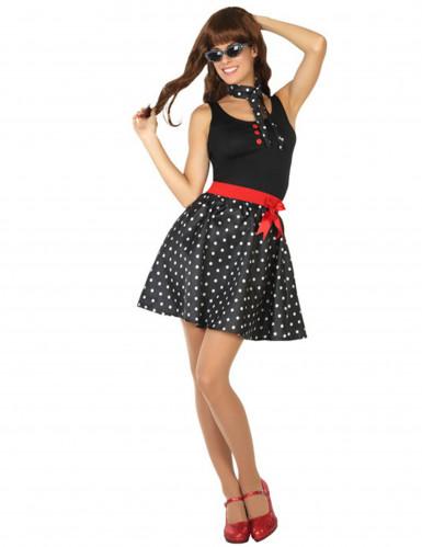 Zwart jaren 50 kostuum voor vrouwen