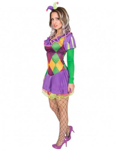 Sexy paars harlekijn kostuum voor vrouwen-1