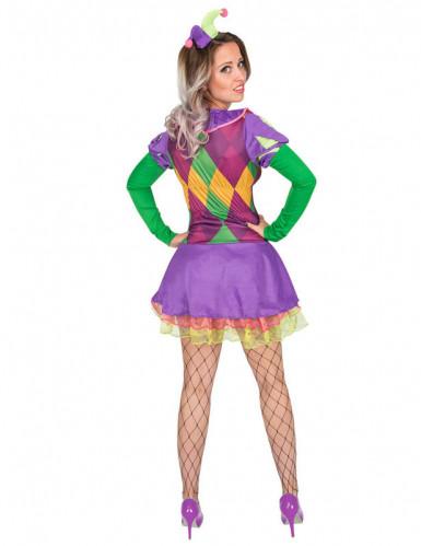 Sexy paars harlekijn kostuum voor vrouwen-2