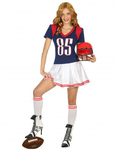 Amerikaanse voetbal speler kostuum voor vrouwen