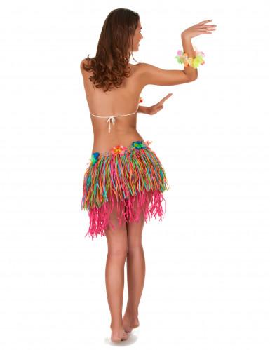 Korte Hawaii rok met bloemen volwassenen-2