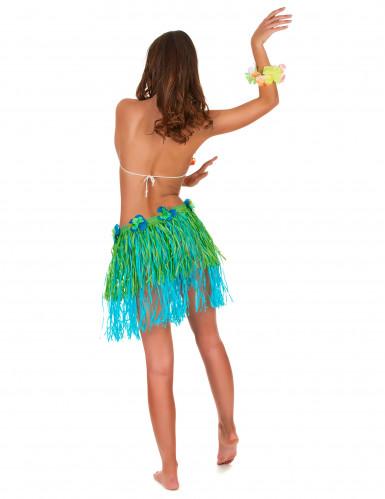 Hawaïaanse rok in groen met blauw voor volwassenen-2