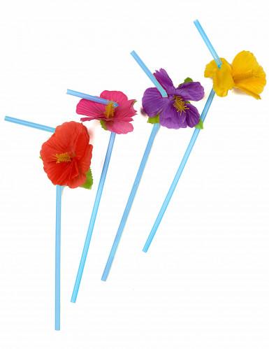 12 Hawaii bloemen rietjes