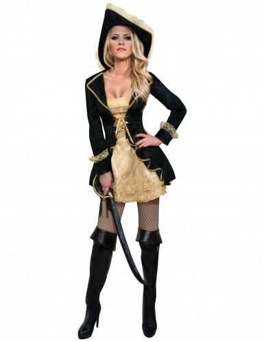 Elegant barok piraten kostuum voor vrouwen