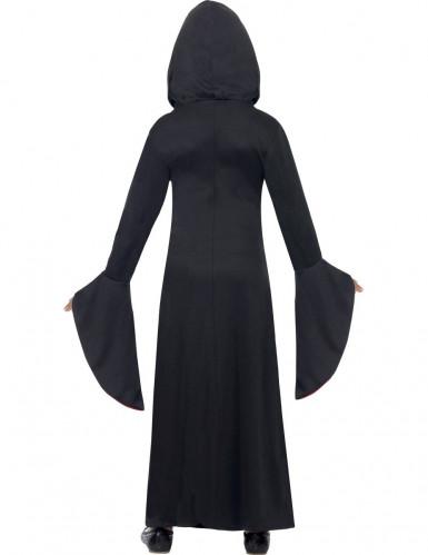 Zwart met rood tovenares kostuum voor meisjes-1