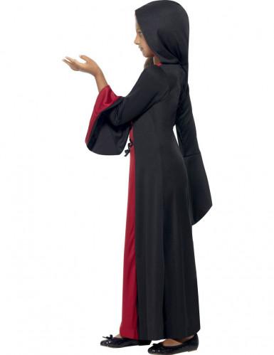 Zwart met rood tovenares kostuum voor meisjes-2