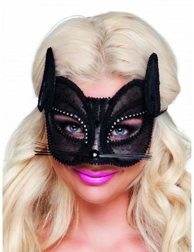 Katten oogmasker met kant