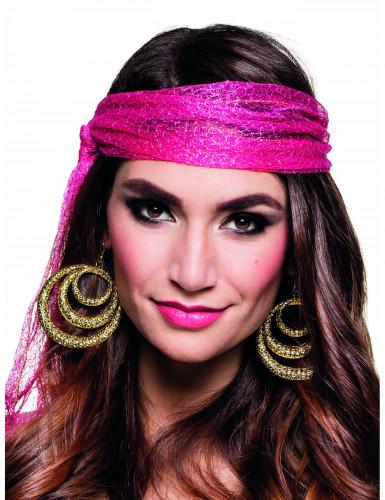 Goudkleurige zigeuner oorbellen voor vrouwen