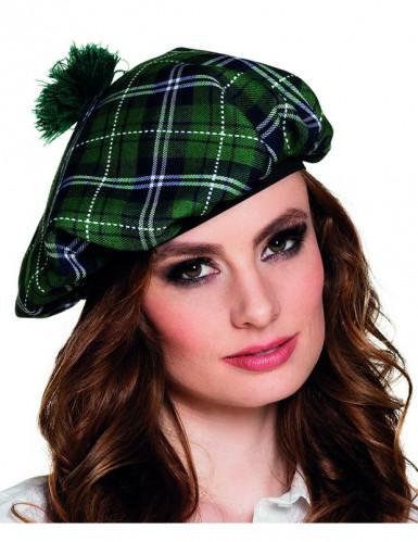 Groene Schotse baret voor volwassenen