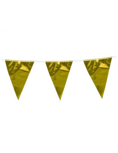 Goudkleurige vlaggenlijn 10 m