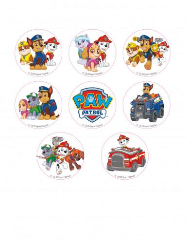 16 Paw Patrol™ suikerdecoraties 3.4 cm-1