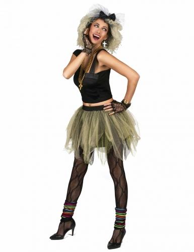 Jaren 80 disco rock kostuum voor vrouwen