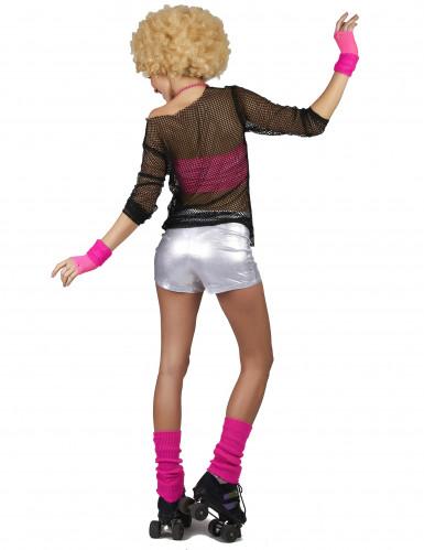 Zilverkleurige disco short voor dames-2