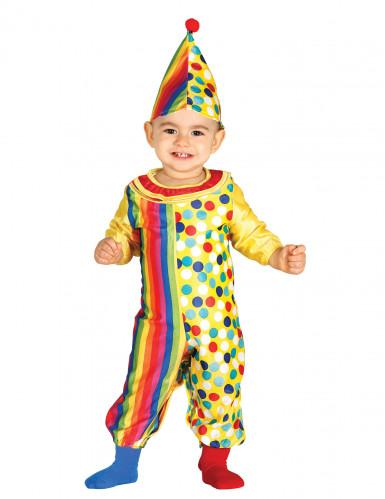 Kleurrijk clown kostuum voor baby's