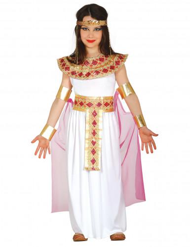 Roze met goud Egyptisch kostuum voor meisjes