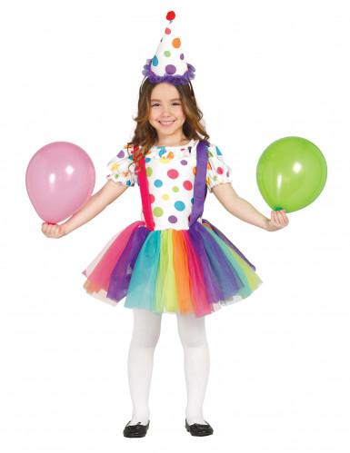 Kleurrijk clownskostuum voor meisjes