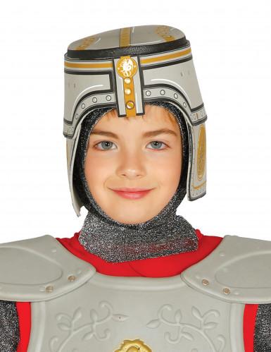 Grijze ridder helm voor kinderen