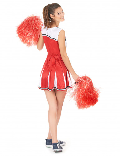Rood USA cheerleader kostuum voor vrouwen-2