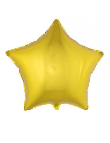 Goudkleurige ster ballon