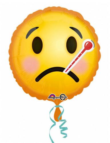 Zieke emoticon ballon