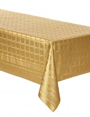 Goudkleurig dambord patroon tafelkleed