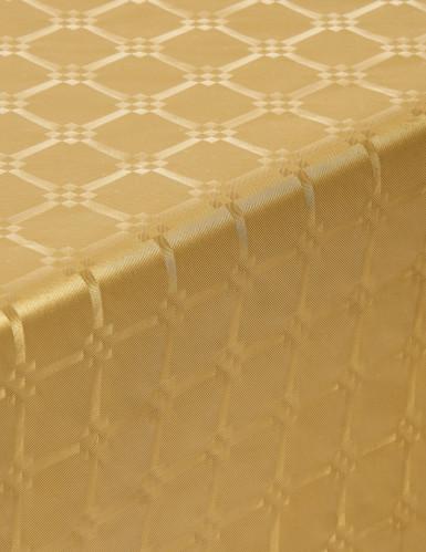 Goudkleurig dambord patroon tafelkleed-1