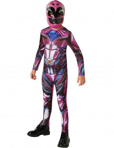 Roze Power Rangers™ outfit voor kinderen-1