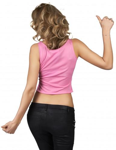 Roze anime bol shirt voor vrouwen-1