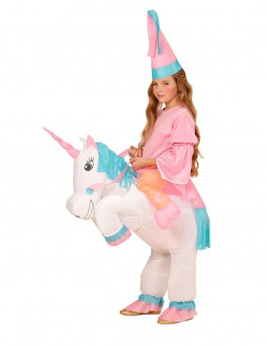 Prinses op eenhoorn kostuum voor meisjes-2