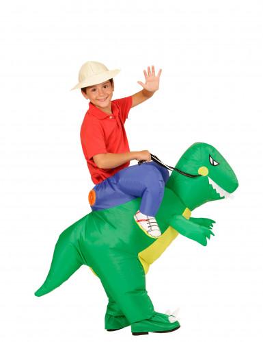 Opblaasbaar dinosaurus kostuum voor kinderen-1