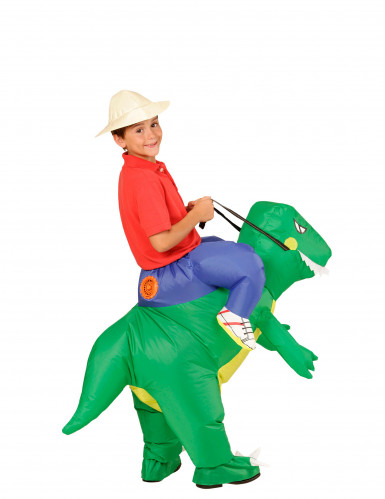 Opblaasbaar dinosaurus kostuum voor kinderen-2