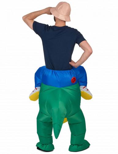 Opblaasbaar man op dinosaurusrug kostuum voor volwassenen-2