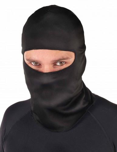 Zwarte ninja bivakmuts voor volwassenen