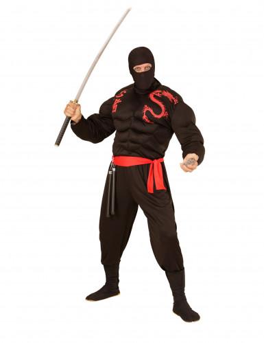 Zwarte ninja bivakmuts voor volwassenen-1