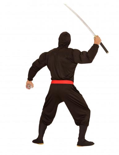 Zwart gespierd ninjakostuum voor volwassenen-1