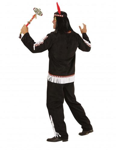 Zwart met wit indianen kostuum voor mannen-2
