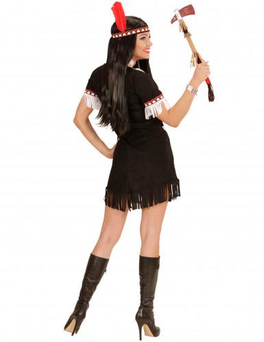 Zwart en wit indianenkostuum voor vrouwen-2