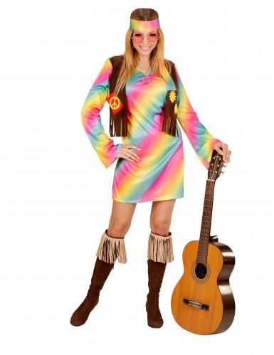 Veelkleurige hippie outfit voor vrouwen