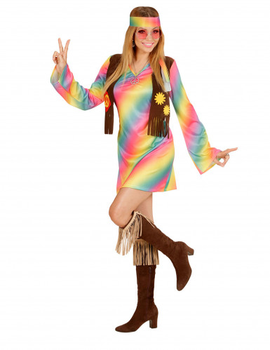 Veelkleurige hippie outfit voor vrouwen-1