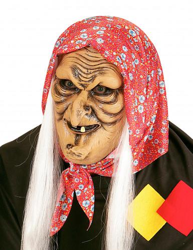 Oude heks half masker masker met haren