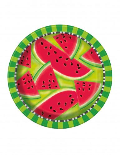 8 watermeloen borden